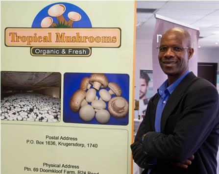 Peter, Nyathi, owner of Tropical Mushrooms