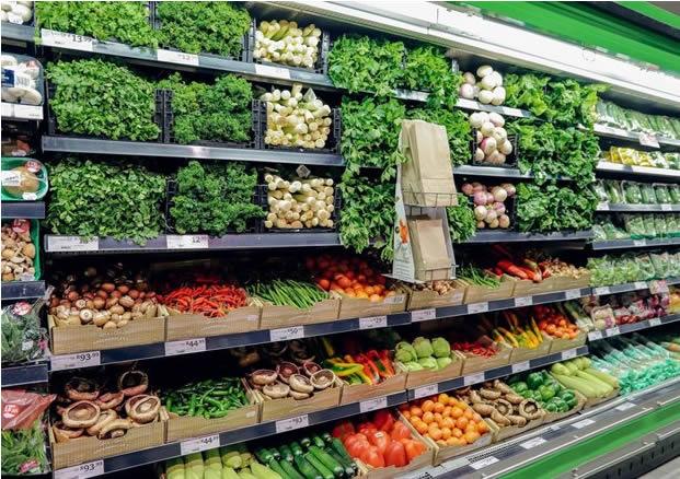 picknpay vegetable display